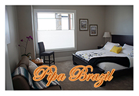 Pipa Brazil is our largest guest room, decorated to give the feel of Brazil.
